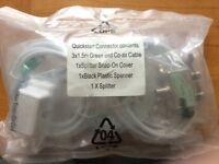 New Broadband Quickstart Connector Kit, inc Coax Cable, Splitter etc