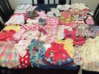 Bundle of girl's clothes new born to 18 months 60 ITEMS