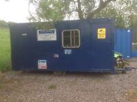 Site office towable welfare unit cabin