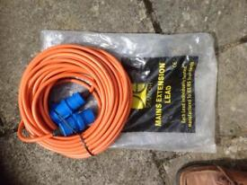Camping mains electric cable