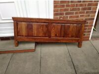 Solid wood double bed and draws