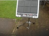 Roland SPD-s sampling pad (spares or repair) with stand and flight case