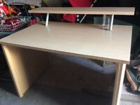 Desk with top shelf