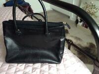 Small black leather Osprey bag-genuine