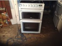 Ceramic top cooker,550 MM,wide,double ovens,£145.00