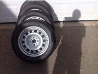 """4 X 16"""" Mini One Alloy Wheels with Tyres"""
