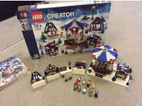 Lego 10235 Winter Village Market - 100% complete working carousel