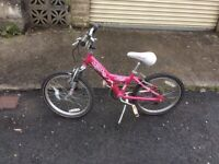 Girls pink Raleigh bike age 8/11 yrs 18 inch wheels