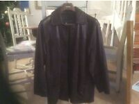Ladies leather coat. Chocolate brown. Made by Lakeland, size S. Would fit 10/12.