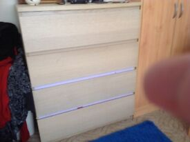 Double wardrobe with matching chest drawers