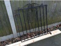BLACK METAL GARDEN GATE