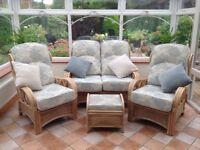 four piece conservatory furniture set