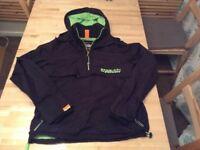 Superdry youths black hoodie style coat