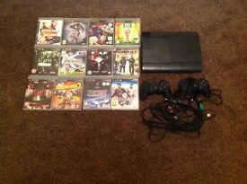 Sony ps3 with 12 games