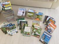 Golf / golfer magazines collection of 120+