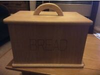 Solid wood bread bin