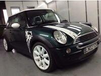 """MINI COOPER BRITISH RACING GREEN """"LOOK one off"""" MINT PAINTWORK VGC Modified custom 17"""" Alloys"""