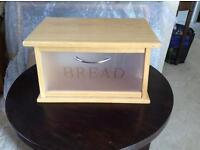 Bread bin wooden modern style