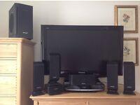 "Full HD 37"" FREEVEIW and FREESAT PANASONIC VIERA LINK TV, DVD BLUERAY, WIRELESS SURROUND SYSTEM"