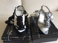 2 pairs new Ladies evening shoes size 4