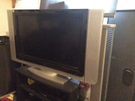 TV, DVD player and Corner TV unit