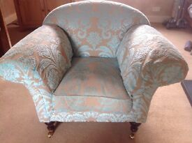 Matching Sofa Workshop Sofa and Armchair . Beige and duck egg blue