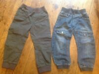 Two pairs of boys trousers, age 4-5