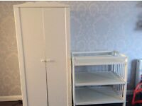Babies first wardrobe and changing station