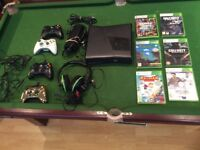 Black Xbox 360 With Accessories