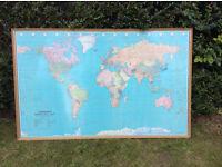 Large Bartholomew Wall Map of the World