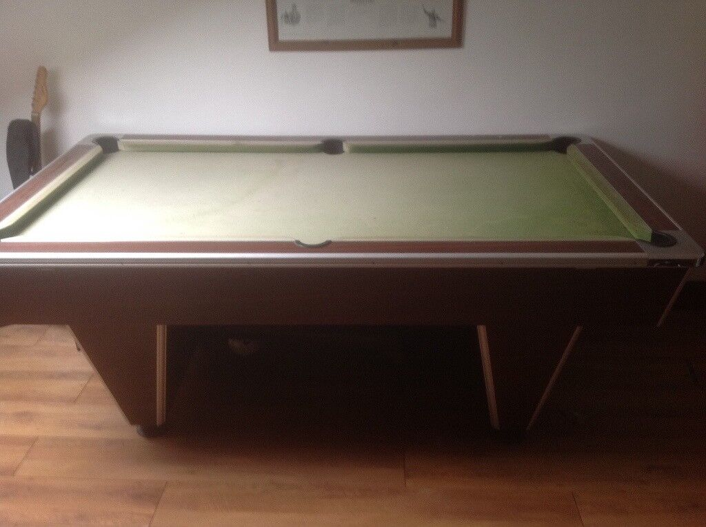 Slate Bed Pool Table In Good Condition Buy To Dismantle And Have - Dismantle pool table