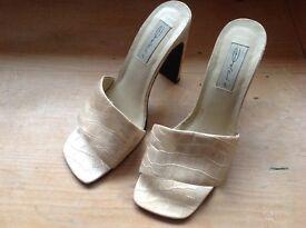 Ladies Gold colour sandals