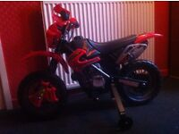 electric ride on red motorbike £25