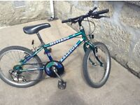 "Boys Bike Raleigh Mustang 20"" wheels 5 speed gears"