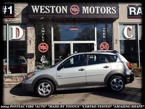 2004 Pontiac Vibe AUTO *MADE BY TOYOTA *AMAZING SHAPE *CERT&E-TE