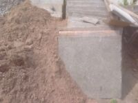 Paving flags ,600mm by 600mm, 50mm deep