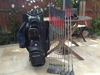 Golf bag and set of clubs