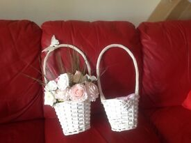 6 flower baskets