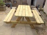 Hand made 5 foot picnic table