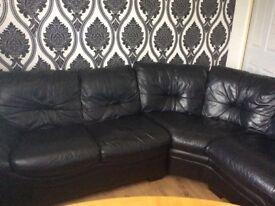 DFS Black Corner Sofa VGC!!