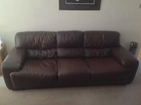 3 Seater sofa - brown Italian leather