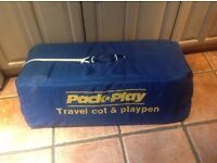 Pack n play travel cot