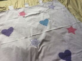 Girls tab top bedroom lined curtains from next