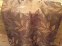 2 pairs John Lewis lounge curtains, beige and gold leaf pattern