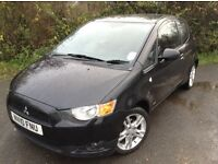 2010 REG MITSUBISHI COLT CZ2 1.4 PETROL 3 DOOR BLACK MOT JUNE 2017 105K 1 PREVIOUS OWNER HPI CLEAR