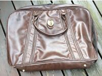 ***100% GENUINE LEATHER VINTAGE SUITCASE – JAMES BOND STYLE - BROWN***