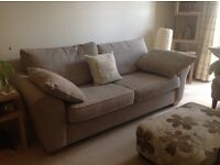 Next Large Garda Sofa Capri Textured Weave Light Mink