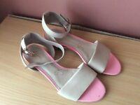 Women's size 5 Clarke's ankle strap low heel sandals