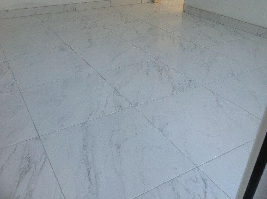 White Marble Effect Ceramic Floor Tiles In Dorking Surrey Gumtree