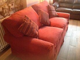 Large terracotta Sofa.